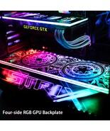customized new version four side edge RGB gpu backplates pc case decorat... - $44.00+