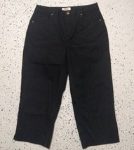 Women's Talbots Casual Capri Pants ~ Sz 4P~ Black ~ Stretch - $14.84