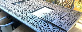 Fire Pit Propane Table 7 Piece Set Cast Aluminum Outdoor Patio Furniture   image 7