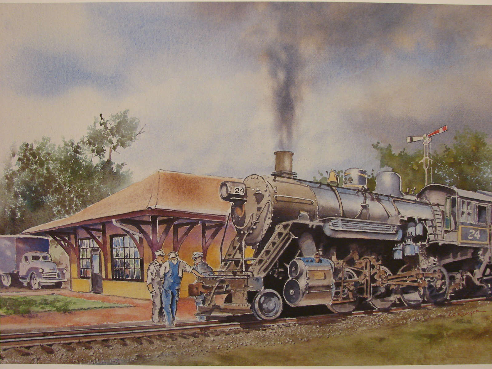 National Railroad Museum Signed , Numbered Print (2012 ) by Steve Krueger