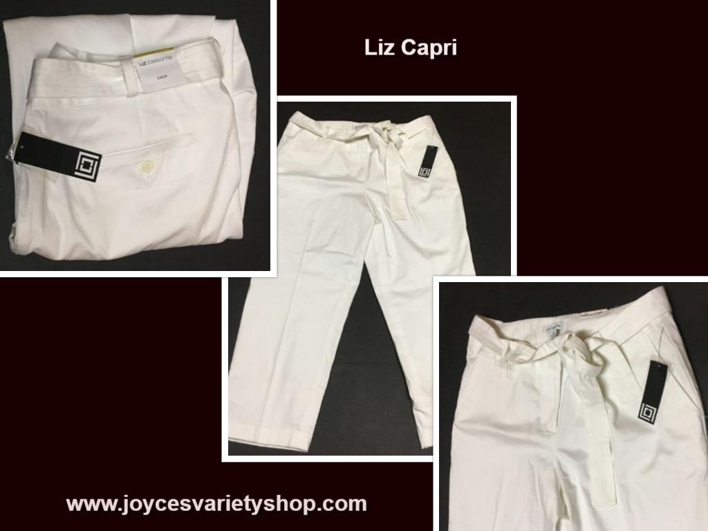 Liz white capri white web collage