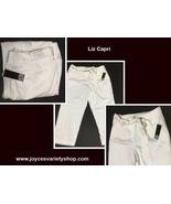 Liz Claiborne White Capri Call of the Tropics Sz 14 NWT - $13.99