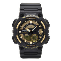 Casio Men's 'Heavy Duty' Quartz Resin Watch, Color:Black (Model: AEQ110B... - $51.24