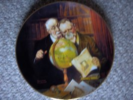 "Norman Rockwell ""Newfound Worlds"" 1989 Collector Plate - $34.65"