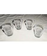 ZZ0 Set of 4 hard plastic 1.5 oz. shot glasses - $6.92