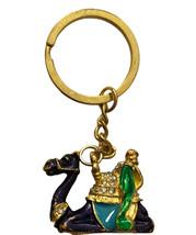 Vintage Camal Jeweled Gold Toned Keychain - $11.76