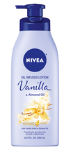 NIVEA Oil Infused Body Lotion, Vanilla and Almond Oil, 16.9 Fluid Ounce  - $10.79