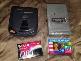RCA Portable Recorder/Cassette Player Model RP3503-B & Sanyo CDP-150 cd ... - $19.79