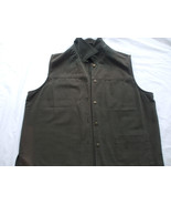 Lindor Grey Denim  Jeans Sleeveless Vest Size 16 100% cotton - $18.47
