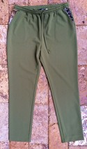 Giuliana Pant with Reptile Printed Pockets in Olive Green, Large - $28.70
