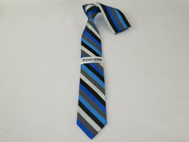 Mens Woven Tie and Hankie set by Stacy Adams Business attire St62 Blue S... - $25.00