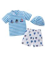 StylesILove Little Boys Stripe Boats Rashguard Swimsuit and Shorts with ... - $18.99