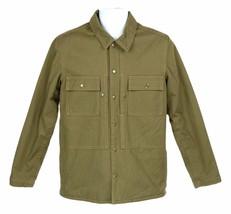 J Crew Wallace Barnes Mens Herringbone Shirt Jacket Fleece Lined Coat M ... - $73.59