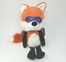 "15"" Circo Target 2013 Orange Baby Fox Stuffed Animal Plush Toy Lovey W Cape - $55.17"
