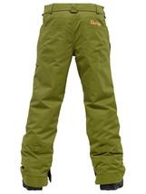 Burton Sweetart Cargo Pants Girls Snowboard Ski Waterproof Insulated Olive XL 18 image 2