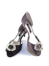 Nina Crystah-LS Satin Open Side Peeptoe Low Heel Dressy Pumps Choose Sz/Color - $48.30