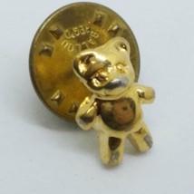 Gold Toned Teddy Bear Lapel Pin - $5.22