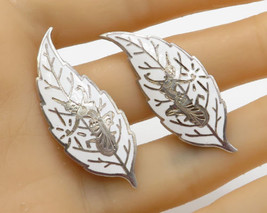 SIAM 925 Sterling Silver - Vintage Goddess Feather Clip On Earrings - E1753 - $54.62