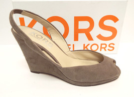 KORS by Michael Kors Size 8 Gray Suede Wedge Sl... - $64.00
