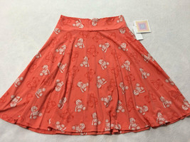 NWT Lularoe Kids Azure Girls 12 Coral Peach Teddy Bear Twirl Skirt - $19.99