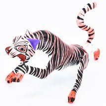 Handmade Alebrijes Oaxacan Copal Wood Carving Painted Folk Art Tiger Figurine image 3