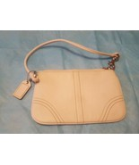White Leather Coach Small Bag- perfect for the spring summer bride weddi... - $22.28