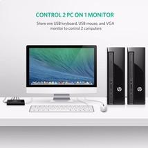 KVM Switch 3 Port VGA Splitter 1920*1440 USB Box Printer Keyboard Mouse ... - $33.99