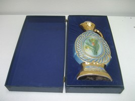 Vintage Beam Regal China Tulip Blue Gold Decanter 1973 & Original Blue F... - $17.72