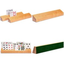 Yellow Mountain Imports Extra-Wide Solid Beechwood Playing Card Holders ... - $42.90