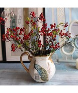 1PC DIY Fake Fruit Berries Artificial Pomegranate Cherry Bouquet For Chr... - $3.40