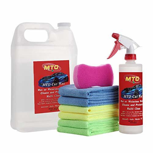 MTO Waterless Car Wash Wax Kit 144 Ounces, Aircraft Quality Car Clean Waxing Kit