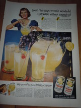 Vintage California Lemonade Concentrate Print Magazine Ad 1952 - $5.99