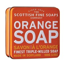 Scottish Fine Soaps Luxury Soap Orange Soap in a Tin 100g 3.5oz - $12.00