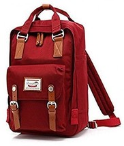 TWOPAGES Teens Canvas Casual Schoolbag Cute Vintage Backpack Leather Ca... - $52.96