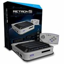 Hyperkin Retron 5 Consola Gris para Nintendo Nes Snes Sega Genesis Game Boy - $156.09