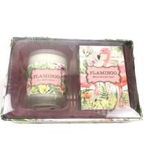 michel design works flamingo sweet osmantbus soap candle set - $11.13