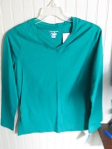 #.  CHAMPION girls  KNIT TOP SIZE L 12 - 14.    GREEN LONG SLEEVE  NWT - $10.00
