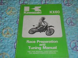 1986 1987 86 87 Kawasaki KX60 Kx 60 Race Racing Preparation Tuning Manual - $23.93