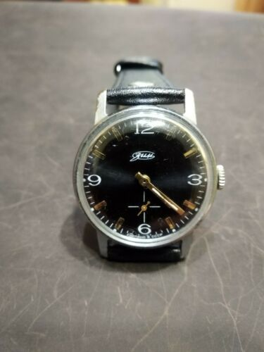 Watch Classic Black Dial Vintage ZIM Pobeda Square Men Retro Style Russian GIFT
