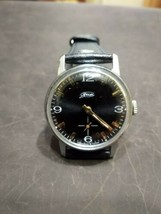 Watch Classic Black Dial Vintage ZIM Pobeda Square Men Retro Style Russi... - $49.00