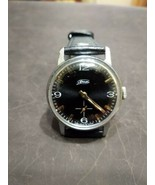 Watch Classic Black Dial Vintage ZIM Pobeda Square Men Retro Style Russian GIFT - $49.00