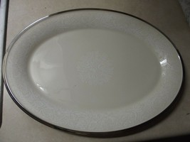 Lenox Moonspun 16 3/8 inch oval platter 1 available - $51.58