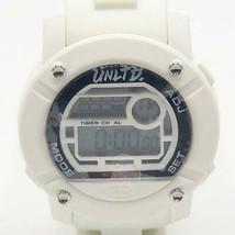 Marc Ecko Unltd White & Black Silicon Parlay Large Face Digital Watch - $64.34