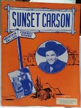 SUNSET CARSON - MTN BALLADS / ORIGINAL 1946 SOUVENIR PROGRAM - VG CONDITION - $19.99
