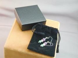DrT Jay King Pink Green Purple Carved Jade Dangle Earrings NIB - $59.99