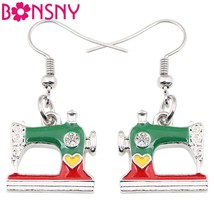 Long sewing machine earrings new fashion spring summer aeesssories enamel tools jewelry thumb200
