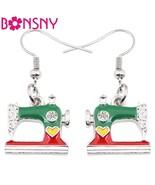 Alloy Drop Dangle Long Sewing Machine Earrings New Fashion Spring Summer... - $11.34