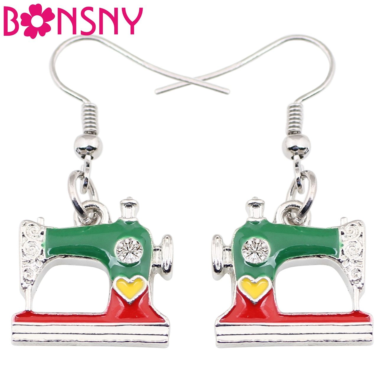 Primary image for Alloy Drop Dangle Long Sewing Machine Earrings New Fashion Spring Summer Aeessso