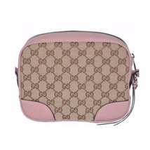 NEW Gucci Beige Pink GG Guccissima Leather Bree Crossbody Camera Shoulder Bag image 2