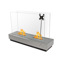 """30"""" Ventless Free Standing Fireplace Table Top Burner Insert w/ Tempered... - $571.54"""